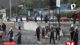 PNP contempla pedir acreditación a deportistas que deseen ingresar al mar
