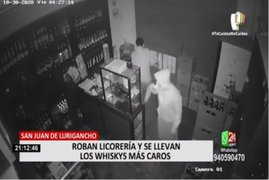 SJL: ladrones se llevan cajas de licor valorizadas en 6 mil soles y 700 soles en efectivo