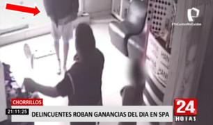 Chorrillos: delincuentes roban ganancias del día en Spa en presencia de niña