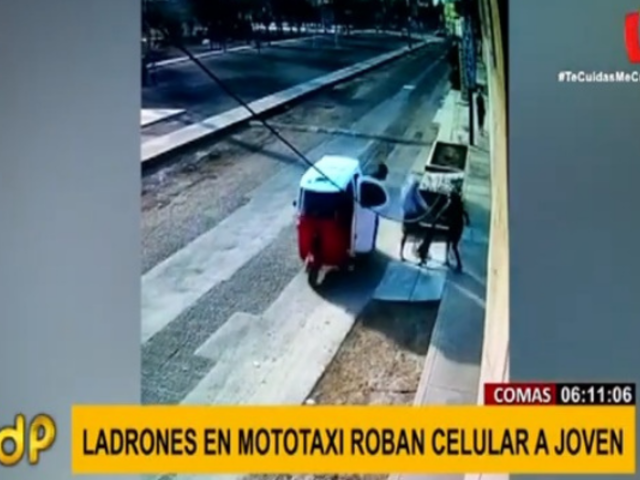 Comas: cámaras captan asalto a mano armada por un celular