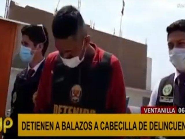 Ventanilla: cabecilla de banda criminal fue detenido a balazos