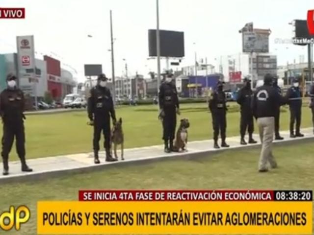 Autoridades de San Miguel se preparan a mantener el orden en inicio de fase 4