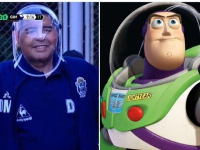 Maradona fue blanco de memes luego de utilizar curioso protector facial