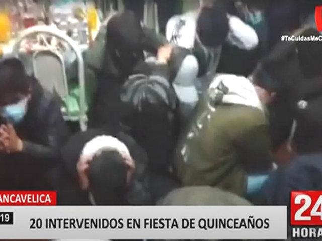 Serenazgo y PNP detienen a más de 20 jóvenes que celebraban un quinceañero