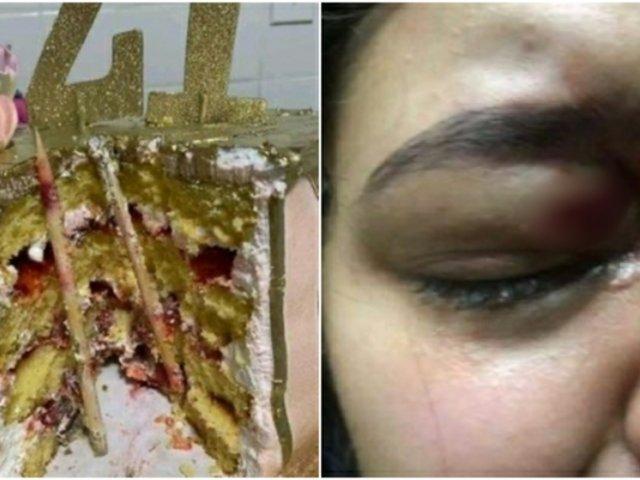 Mujer estuvo a punto de perder uno de sus ojos tras morder torta que tenía varillas