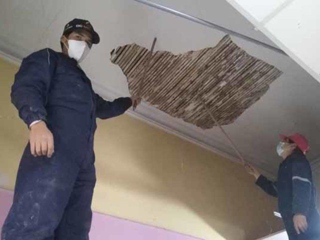 Huancayo: techo de hospital materno infantil se desplomó tras intensa lluvia