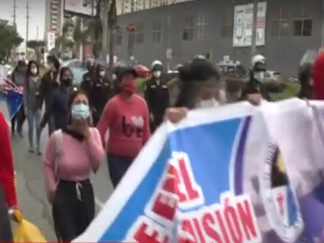 Postulantes de San Marcos realizaron plantón por presuntas irregularidades en examen de admisión