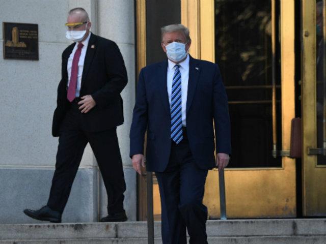 """""""¡Volveremos pronto a campaña!"""", dice Trump tras salir de hospital donde recibió tratamiento por covid-19"""