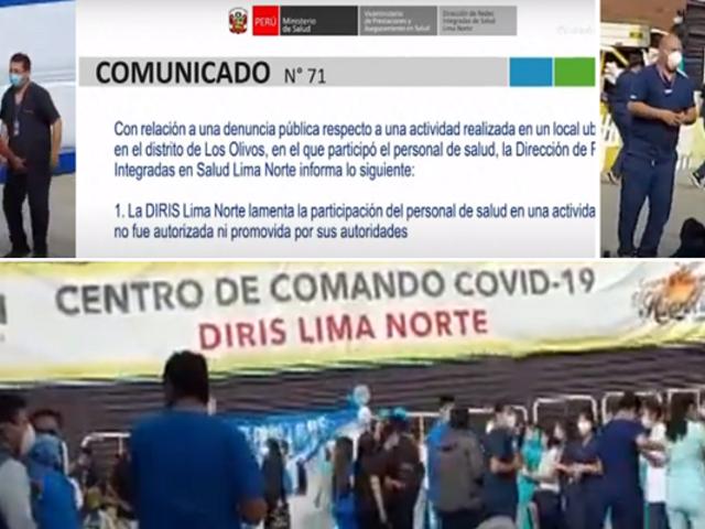 Minsa sancionará a los responsables de organizar celebración en centro de Comando COVID-19