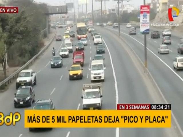 En tres semanas, más de 5 mil papeletas dejó 'Pico y Placa'