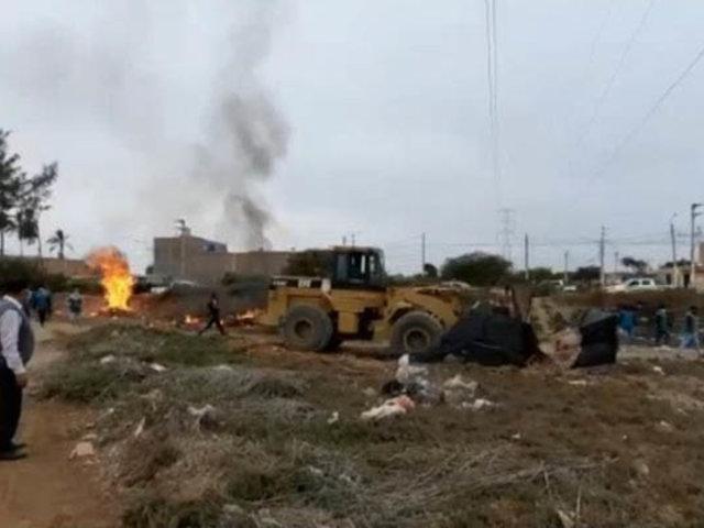 Desalojan invasores de un extenso fundo perteneciente a una universidad de Lambayeque