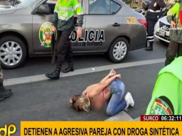 Surco: capturan a pareja con droga sintética tras persecución y balacera