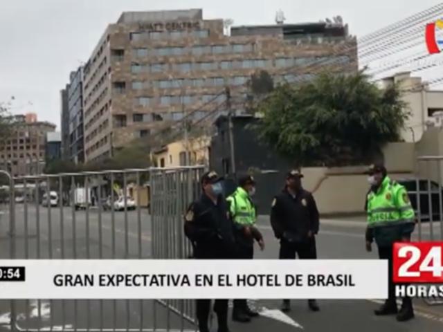 San Isidro: cierran alrededores de hotel de concentración de Brasil para evitar aglomeraciones