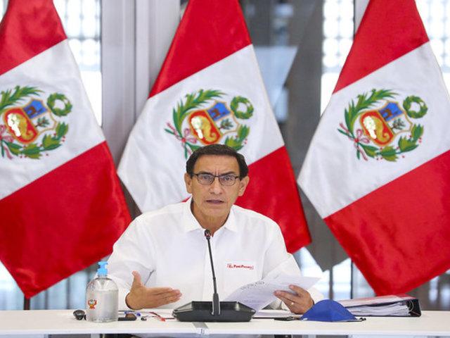 Presidente Vizcarra afirmó que buscan sacarlo del cargo para postergar elecciones del otro año