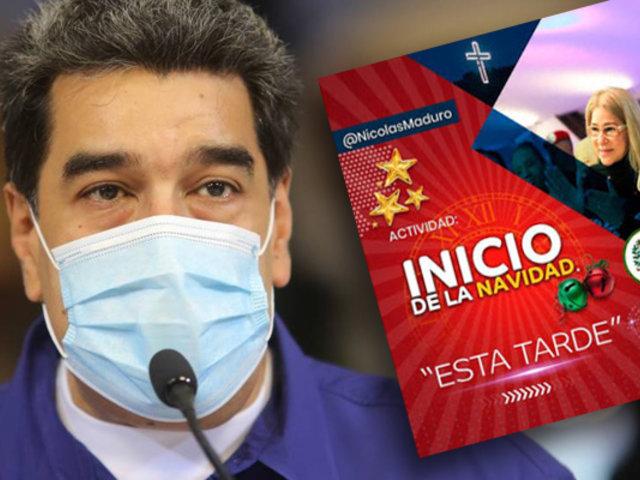 Maduro decretó el inicio de la Navidad en Venezuela