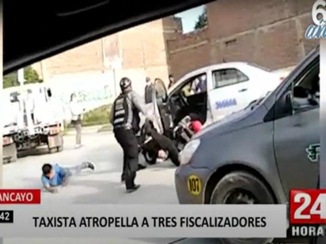 Huancayo: infractor atropella a inspectores para fugarse de intervención