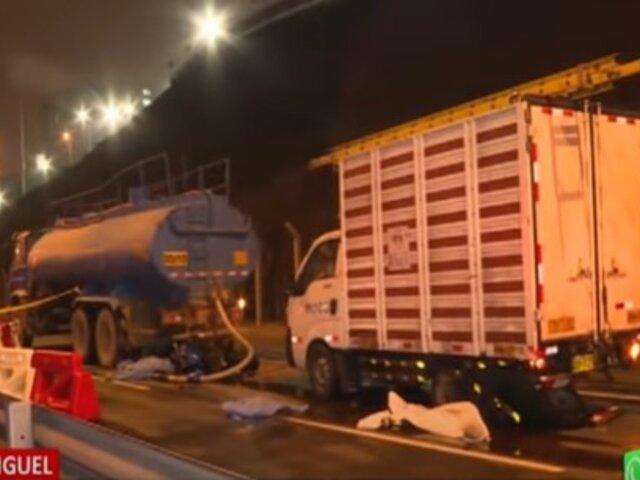 San Miguel: accidente vehicular en la Costa Verde deja saldo de dos personas fallecidas