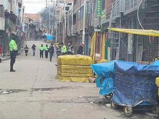 Costal lleno de explosivos fue abandonado en una calle de Puno
