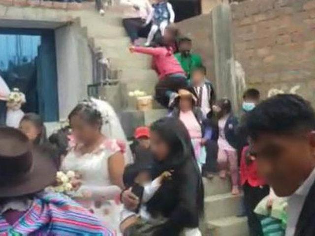 Covid-19: novios e invitados a boda fueron intervenidos y trasladados a comisaría en Huancayo