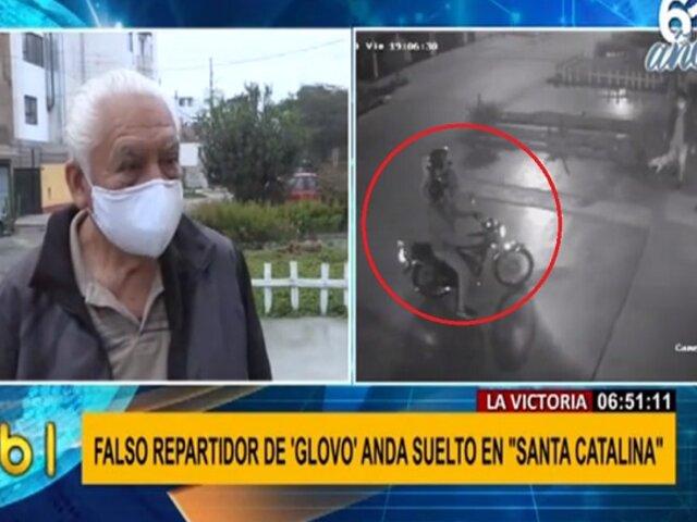 La Victoria: se incrementan asaltos al paso por falsos repartidores de delivery