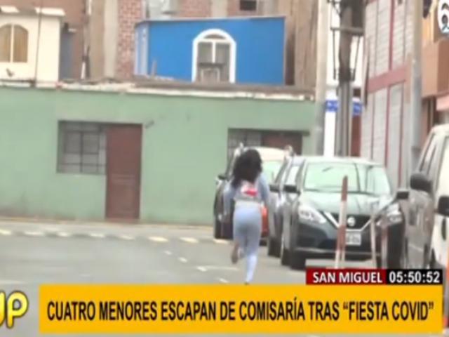 San Miguel: investigan fuga de comisaría de menores intervenidos en 'fiesta COVID'