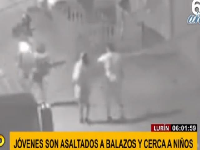 Lurín: ladrones armados asaltan a joven pareja enfrente de niños