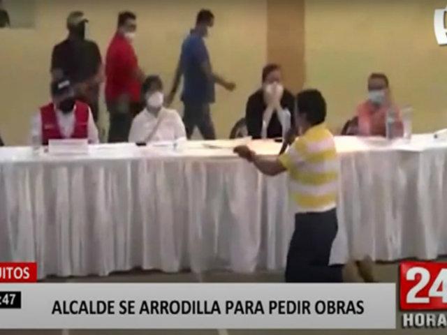 Iquitos: alcalde de Morona se arrodilla ante miembros de la PCM
