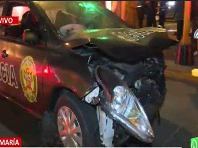 Jesus María: Dos policías heridos accidente de tránsito