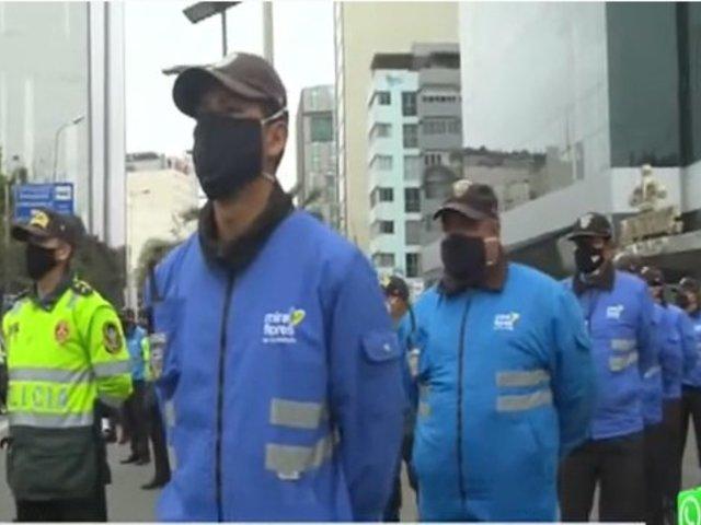PNP inicia patrullaje a pie en calles de Miraflores, San Isidro, Surco, Surquillo y San Borja