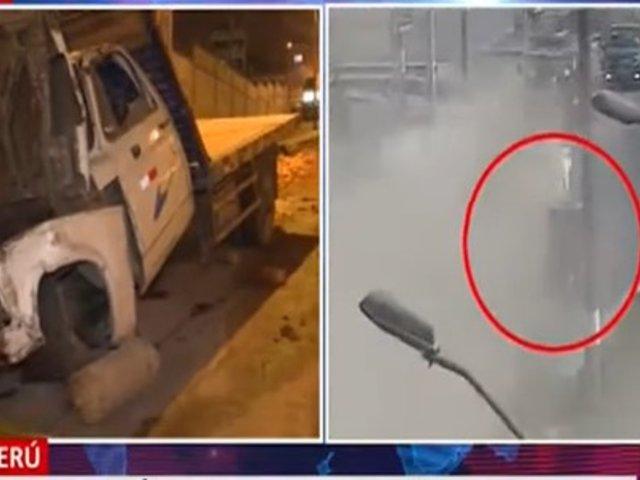 Callao: Camión que iba en sentido contrario atropelló y mató a tres personas en Mi Perú