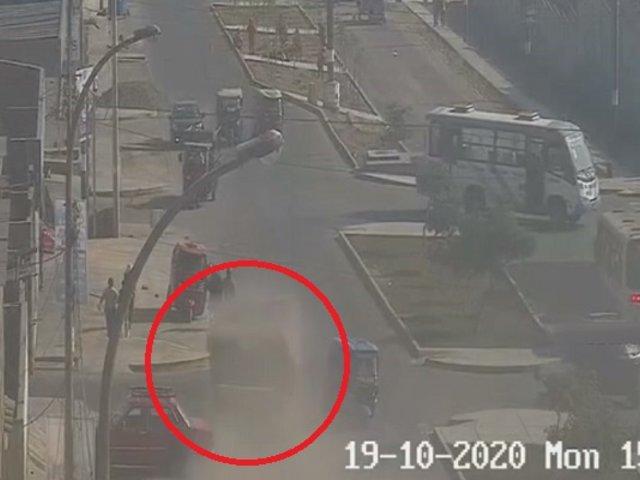 Camión fuera de control mata a 3 personas en Mi Perú