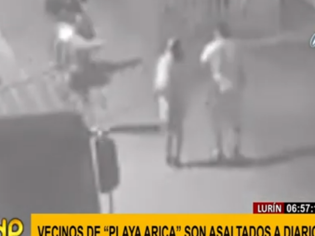 Lurín: vecinos exigen apoyo de las autoridades ante asaltos en Playa Arica