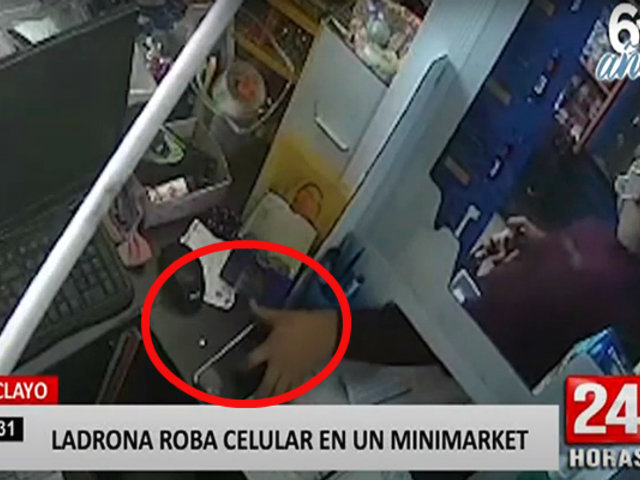 Chiclayo: supuesta clienta robó celular de un trabajador de minimarket