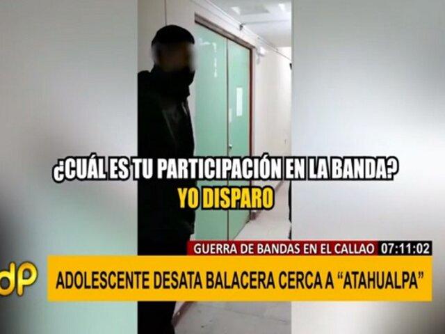 Terror por guerra de bandas en el Callao: menor sicario desata balacera