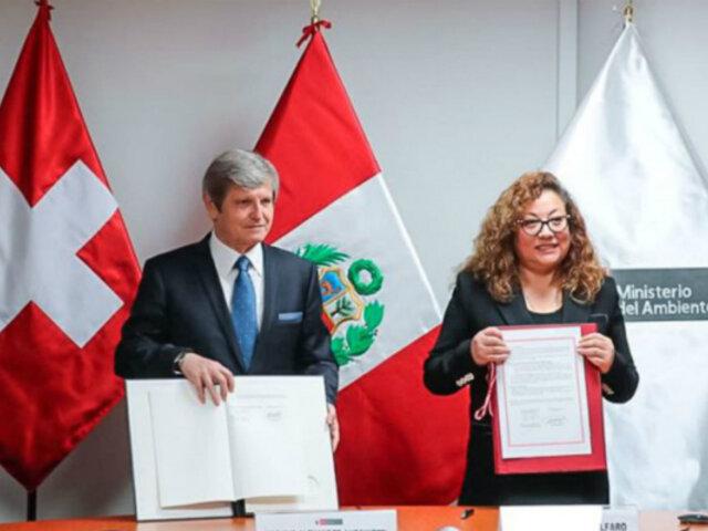 Perú y Suiza firman convenio para reducir gases de efecto invernadero