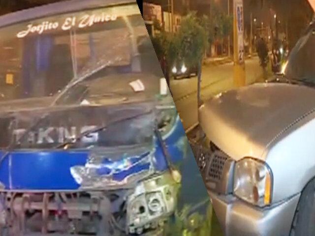 Dos heridos deja choque de vehículo de la Fiscalía en Ate
