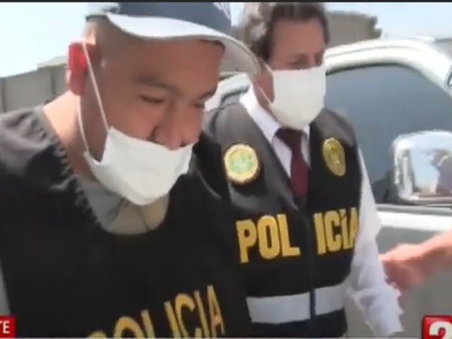 PNP captura a ladrón de casas que fue filmado en su última fechoría en Cañete