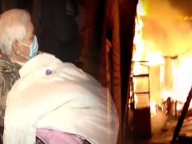 Incendio consumió diez viviendas en solar de Barrios Altos