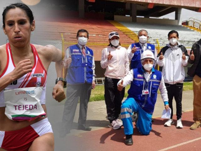 Atletas y Para atletas vuelven a entrenar en estadio de Huancayo