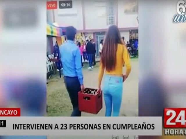 Huancayo: transmitían fiesta en vivo por redes cuando fueron sorprendidos por la Policía