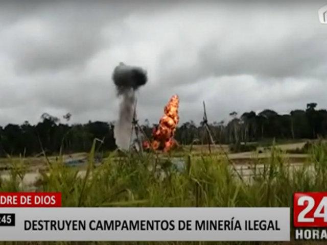 Madre de Dios: Plan Fortaleza 2020 destruye varios campamentos de minería ilegal