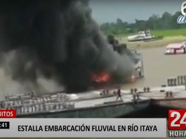 Embarcación fluvial estalla en pleno viaje en río Itaya