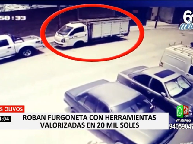 Los Olivos: delincuentes robaron furgoneta con herramientas valorizadas en 20 mil soles
