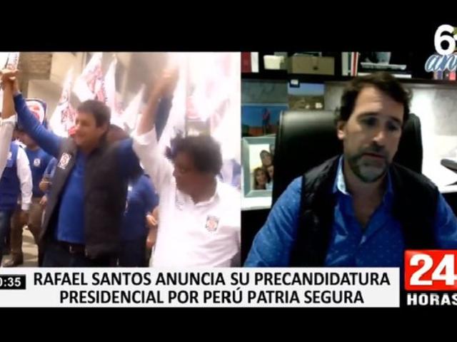 Rafael Santos anunció su precandidatura presidencial por Perú Patria Segura