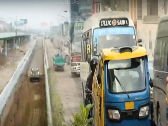 Obras inconclusas generan caos vehicular en SJM