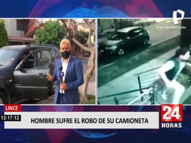 Lince: hombre sufre el robo de su camioneta
