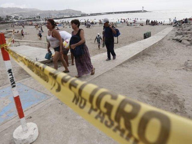 Trujillo: comerciantes están inconforme con cierre de playa Huanchaco en verano