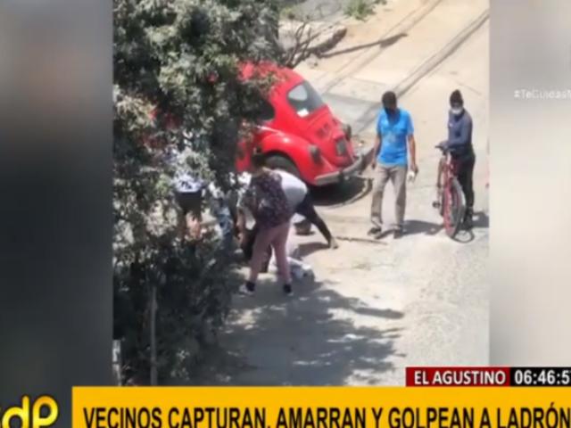 El Agustino: vecinos cansados de delincuencia casi linchan a ladrón