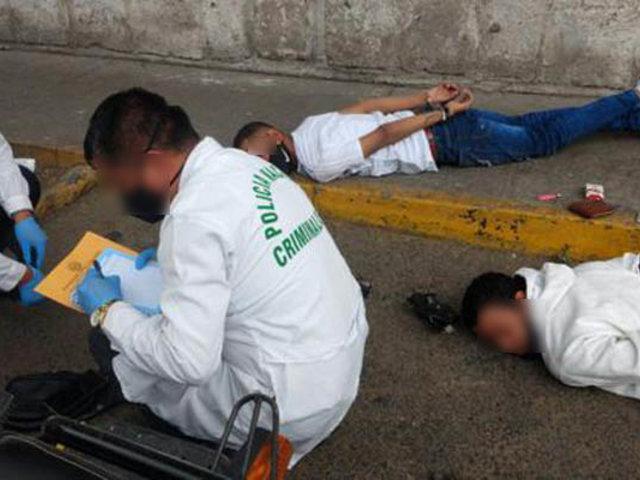 Arequipa: tras intensa persecución capturan a dos extranjeros que asaltaban en moto