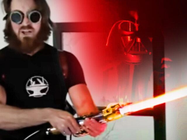 Ingeniero crea el primer sable de luz verdadero inspirado en Star Wars
